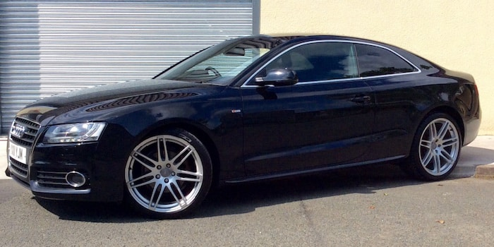 Audi A5 with 20-inch alloy wheels