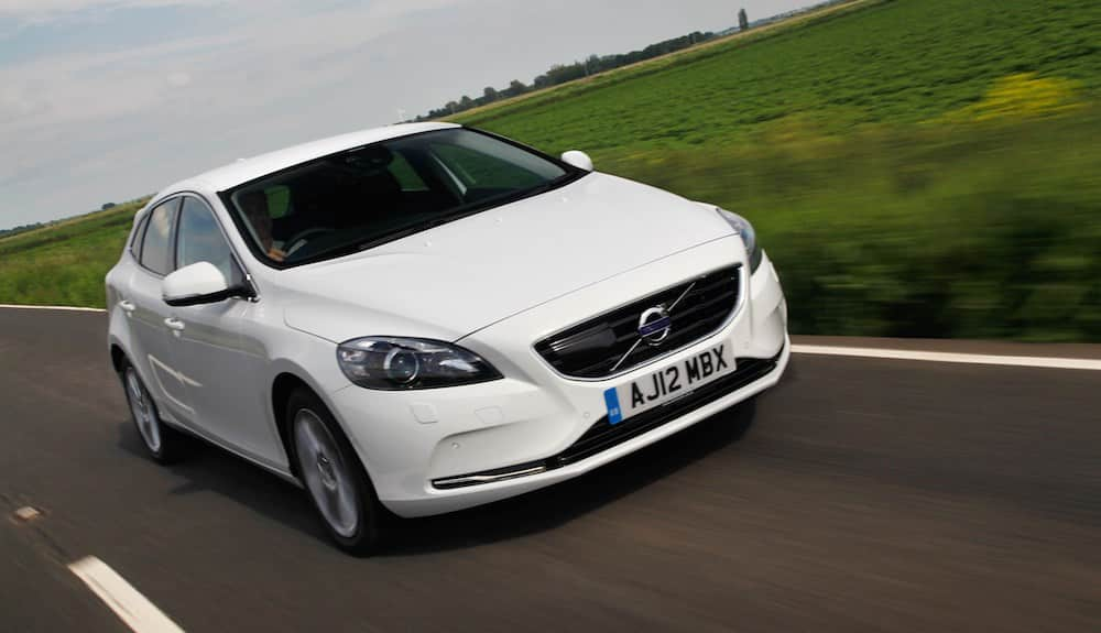 Volvo V40 on the road in the UK