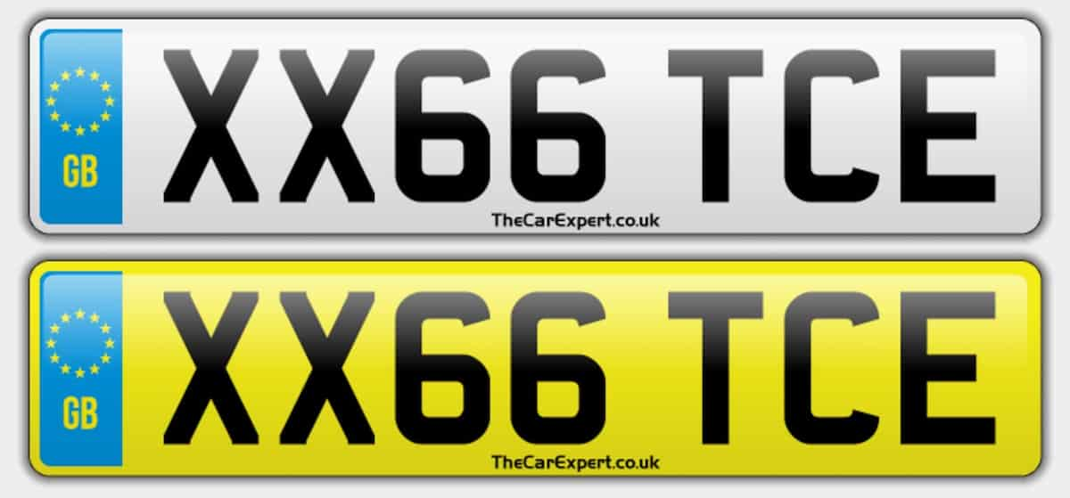 UK number plate system