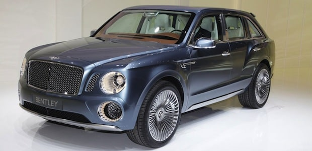 Bentley EXP-9F, one of the ugliest cars of the year. Any year.