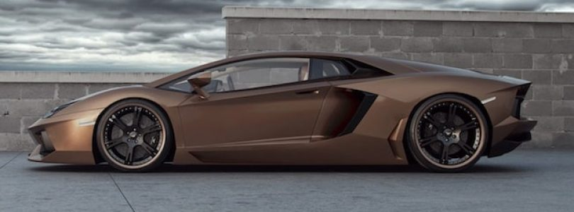 Custom alloy wheels can improve almost any car - even this Lamborghini Aventador - a true supercar