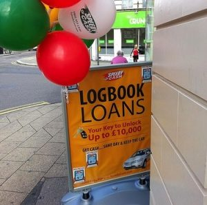 Logbook loan sign