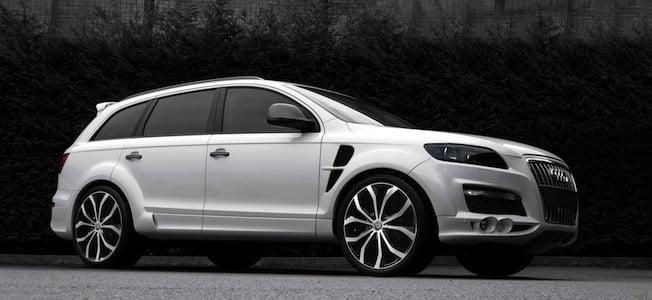 Audi Q7 wearing custom aluminium alloy wheels and bodykit (The Car Expert)