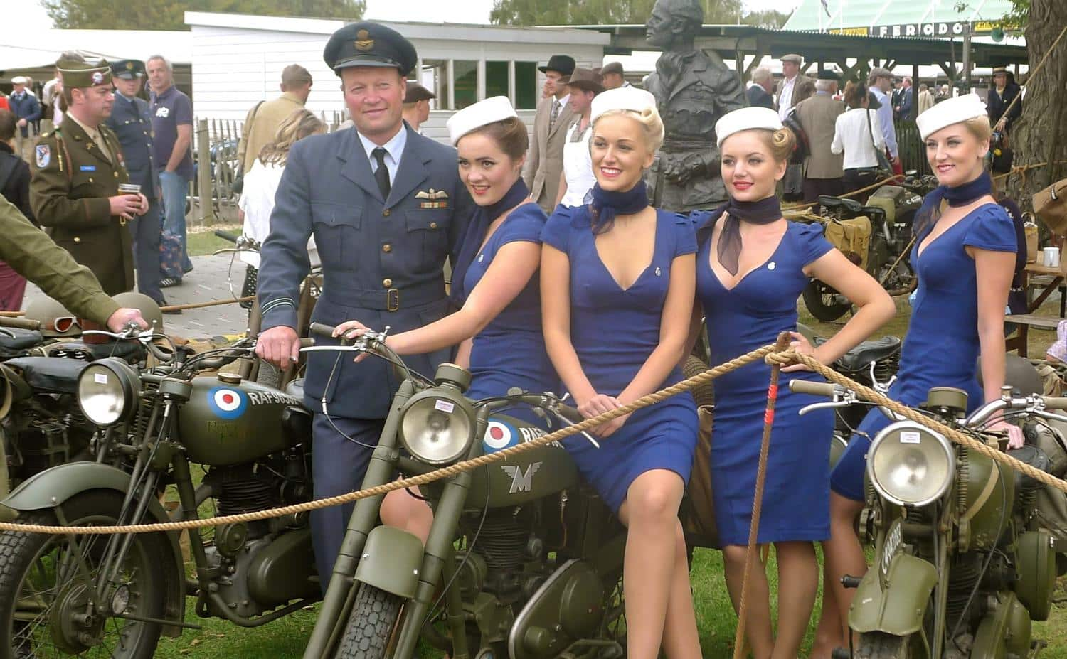 Goodwood Revival fashion - this officer is quite popular with the ladies...