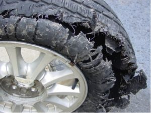 Tyre blowout (The Car Expert)