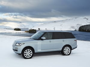 The Range Rover is well suited to winter and snow driving