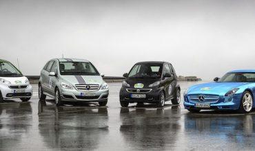 Mercedes-Benz's electric car range