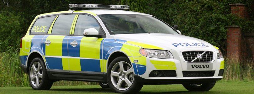 Volvo V70 police car