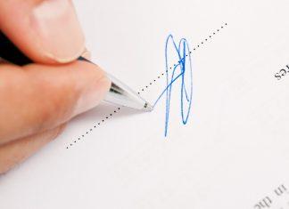 Car finance signature