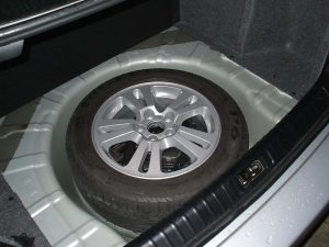 Full-size spare wheel, spare tyre