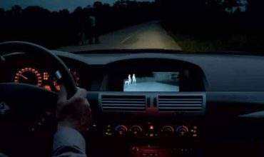 A thermal imaging night vision system featured in a BMW
