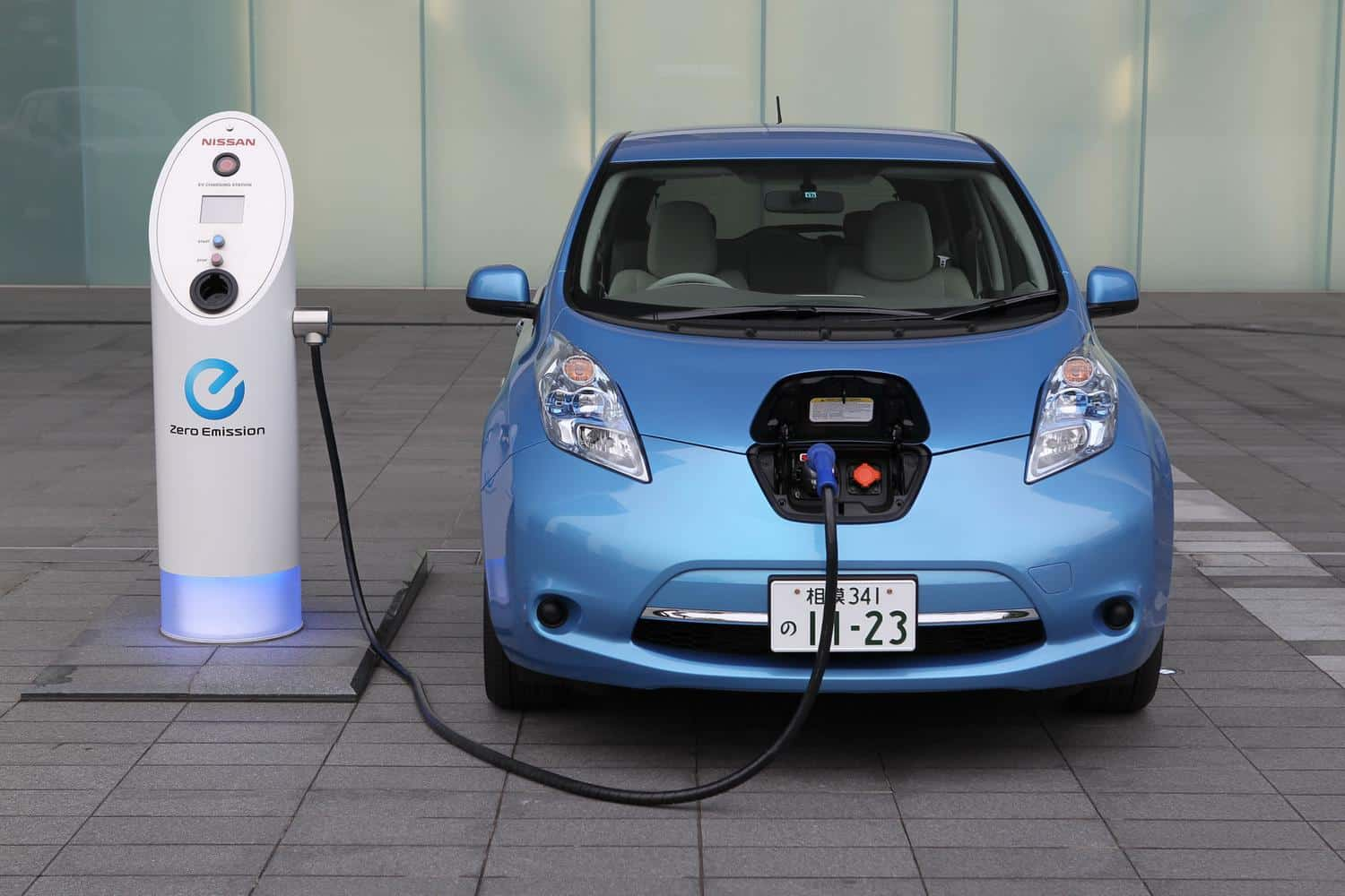 Nissan Leaf - most popular elevtric vehicle (EV) in the UK