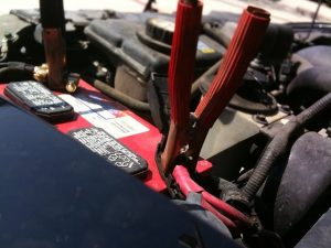 A flat battery is a common car fault