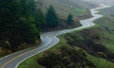 Stunning winding road in California