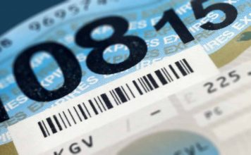 Road tax disc DVLA UK