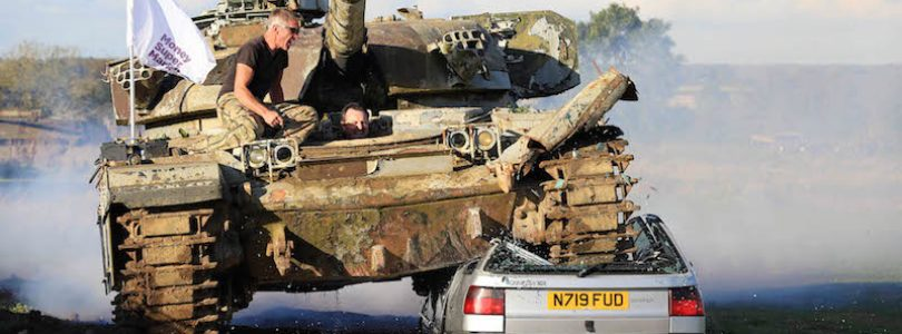 The Car Expert crushes a tank and Money Supermarket crushes car insurance quotes.