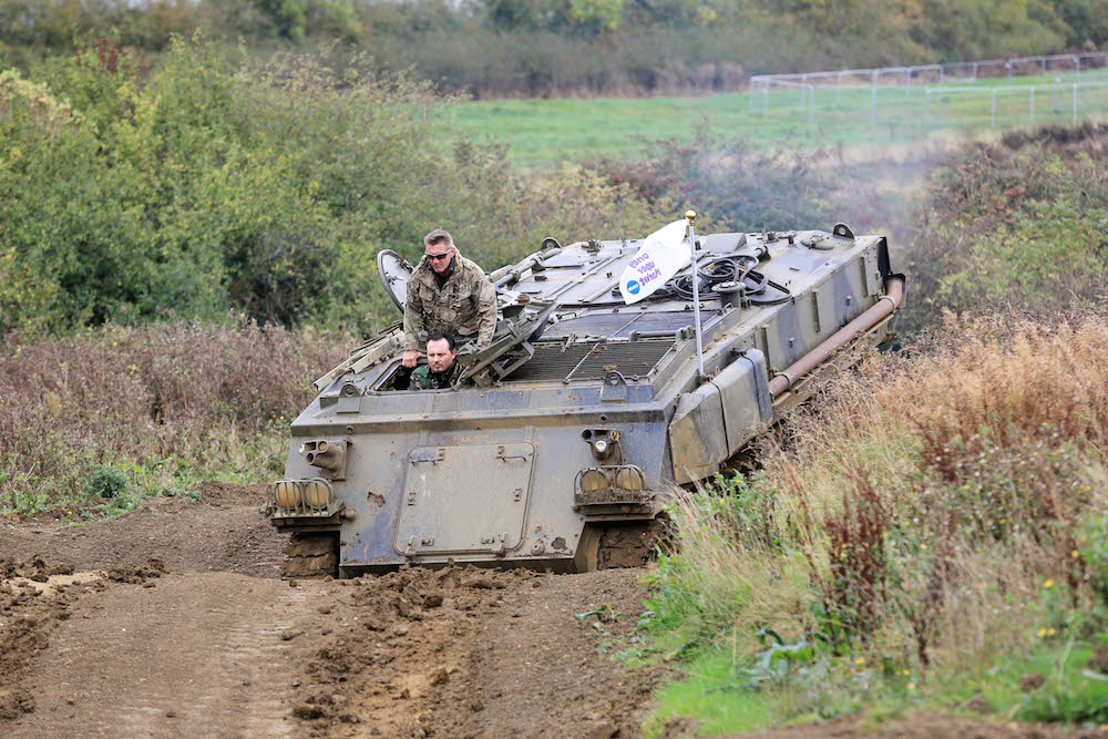 FV432 armoured personnel carrier, being driven by The Car Expert