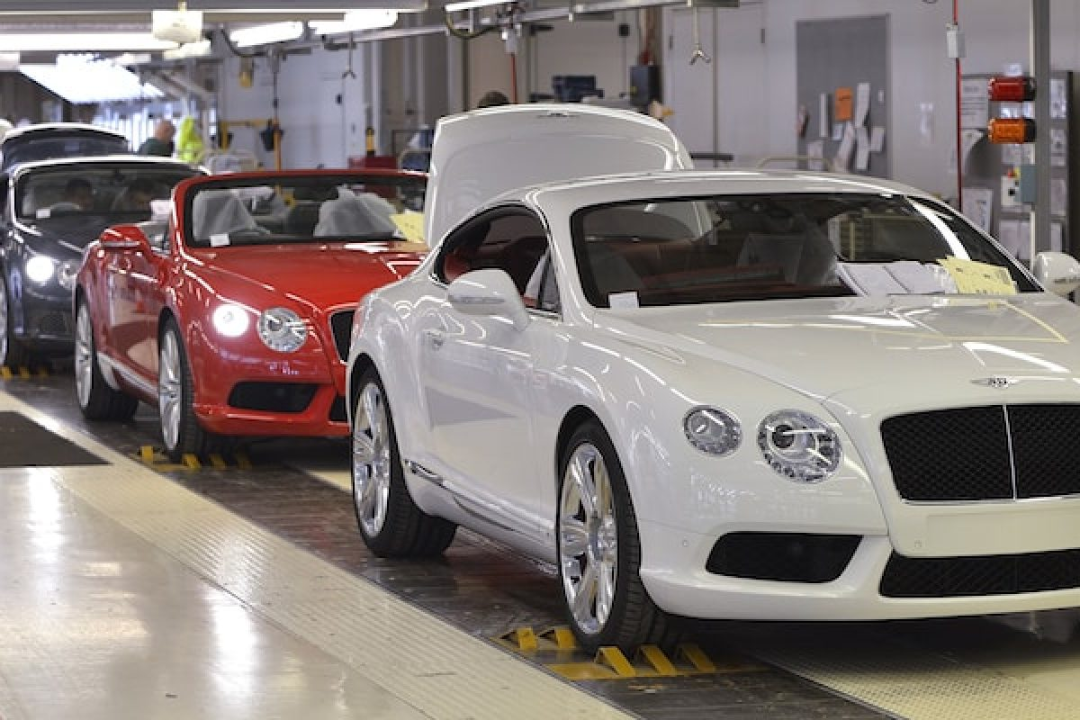 Bentley production line - UK automotive industry