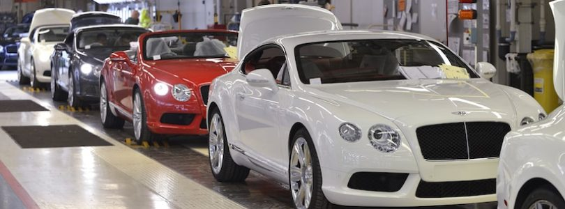 Bentley production line - UK automotive industry