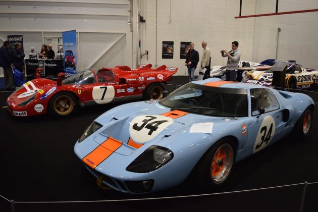 London Classic Car Show 2015, Le Mans legends Ferrari 512S and Ford GT40