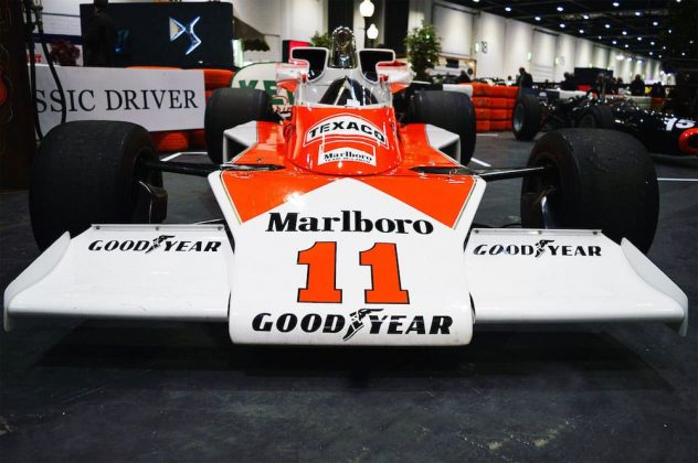 1976 McLaren M23 as driven by James Hunt at the 2015 London Classic Car Show