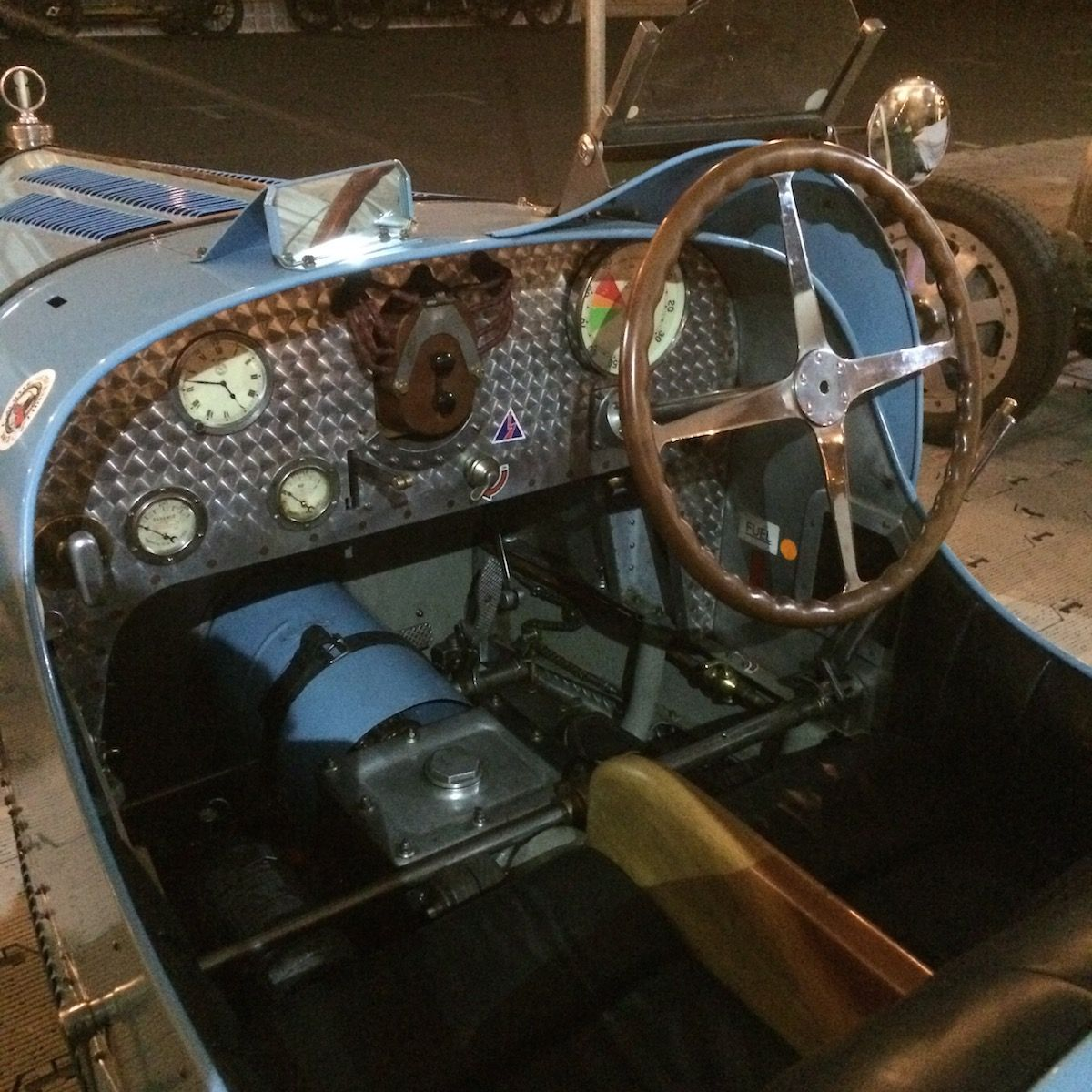 Dashboard of a Bugatti Type 35 at the 73rd Goodwood Members' Meeting, March 2015