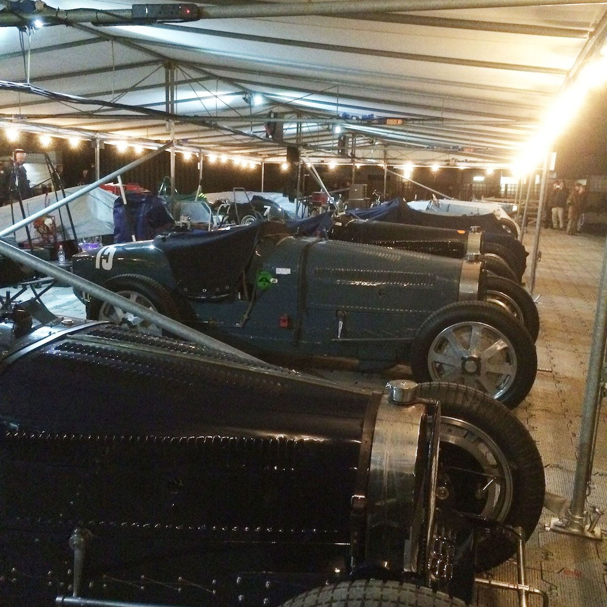 A collection of priceless Bugatti Type 35 and 51 racers at the 73rd Goodwood Members' Meeting