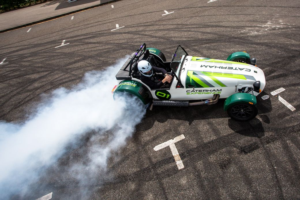 Caterham drifting experience at Silverstone