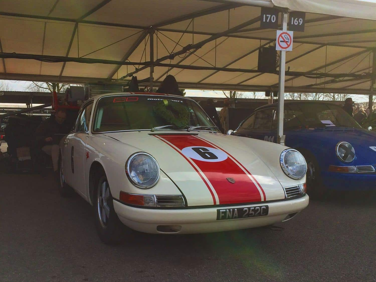 This Porsche 911 finished second in the 901/911 race at the 73rd Goodwood Members' Meeting in 2015