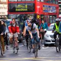 Cyclists on the streets of London