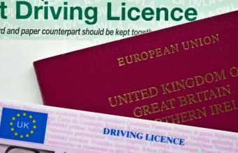Identification documents - UK Driving Licence and Passport (The Car Expert)