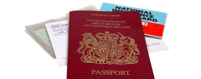 UK identification documents if you can't find your photo drivers licence