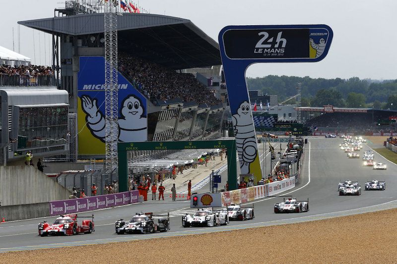 Start of the 2015 Le Mans 24 Hour race