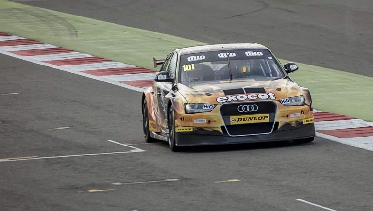 Riding in a BTCC car at Silverstone