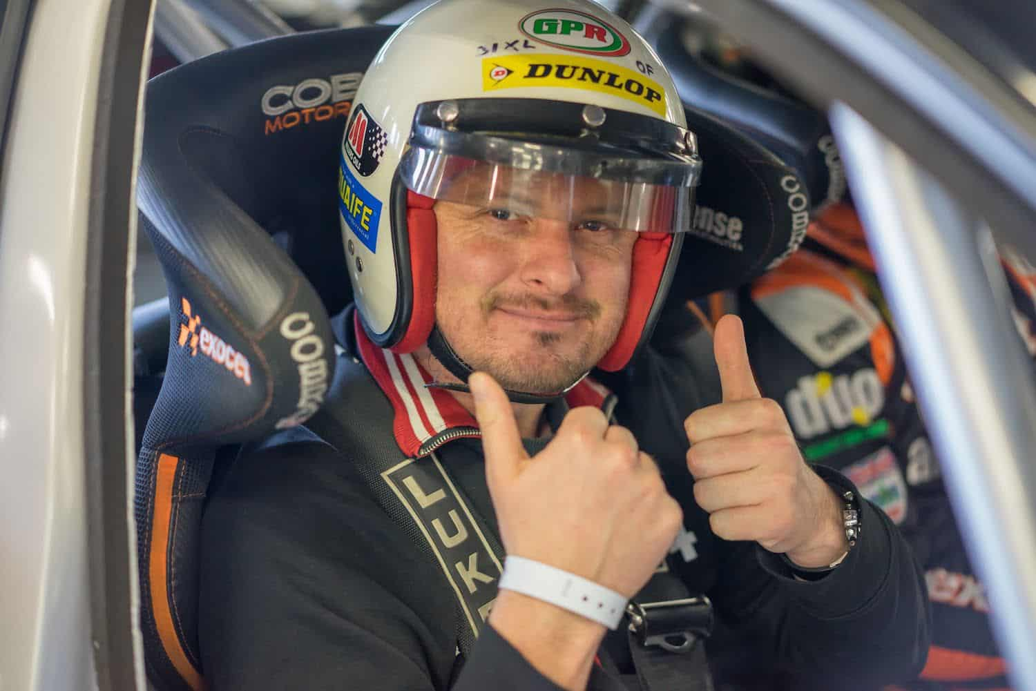 Stuart from The Car Expert is ready to hit the track with Rob Austin in his Exocet BTCC Audi A4
