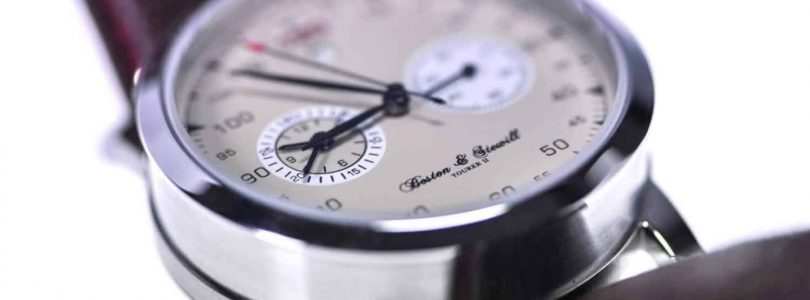 British racing watch inspired by classic Bugattis