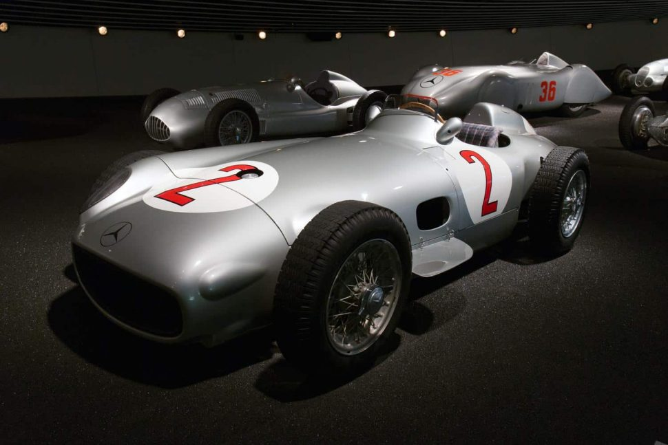 Mercedes-Benz W196 F1 car Silver Arrows, as driven by Fangio and Moss