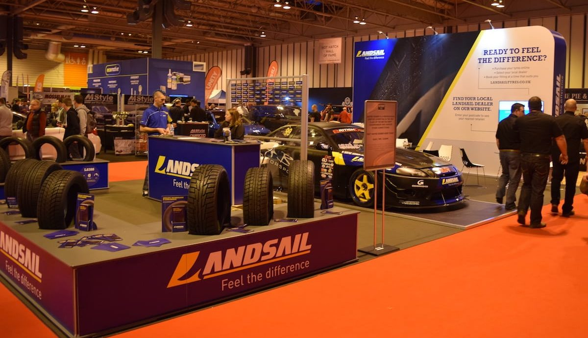 Landsail Tyres stand at the Performance Car Show 2016, NEC Birmingham