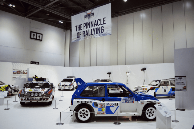 Group B rallying display at the 2016 London Classic Car Show