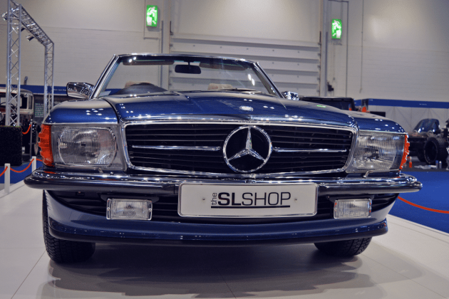 Mercedes- R107 SL at the 2016 London Classic Car Show
