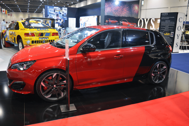 Peugeot 308 GTi at the 2016 London Classic Car Show
