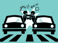 Road rage graphic