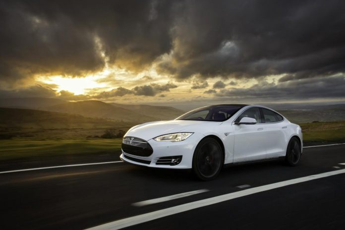 Tesla Model S from new car hire company White Car