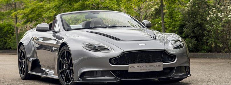 Silver Aston Martin Vantage GT12 Roadster