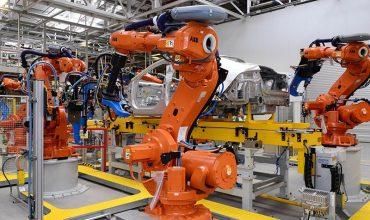 Jaguar production line in the UK