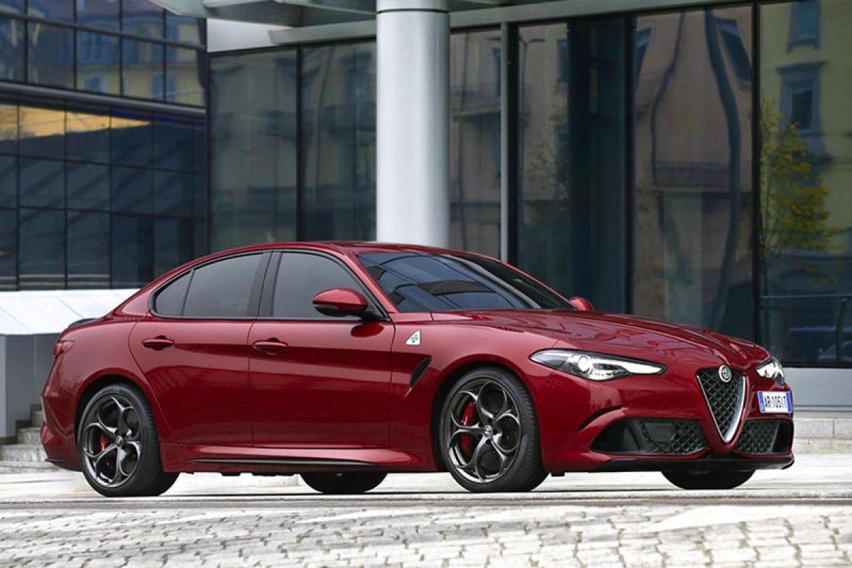 Red Alfa Romeo Giulia Quadrifoglio