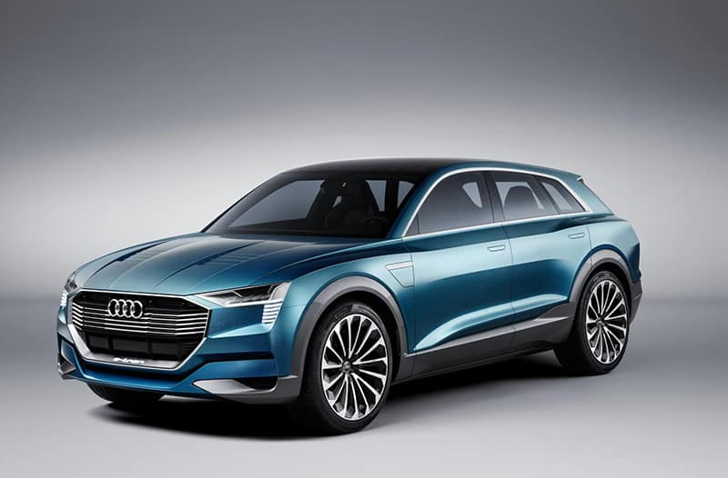 The quattro e-tron concept of 2015 previews Audi's future electric range-topper.