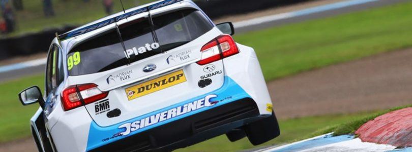 Plato takes milestone BTCC win for Subaru