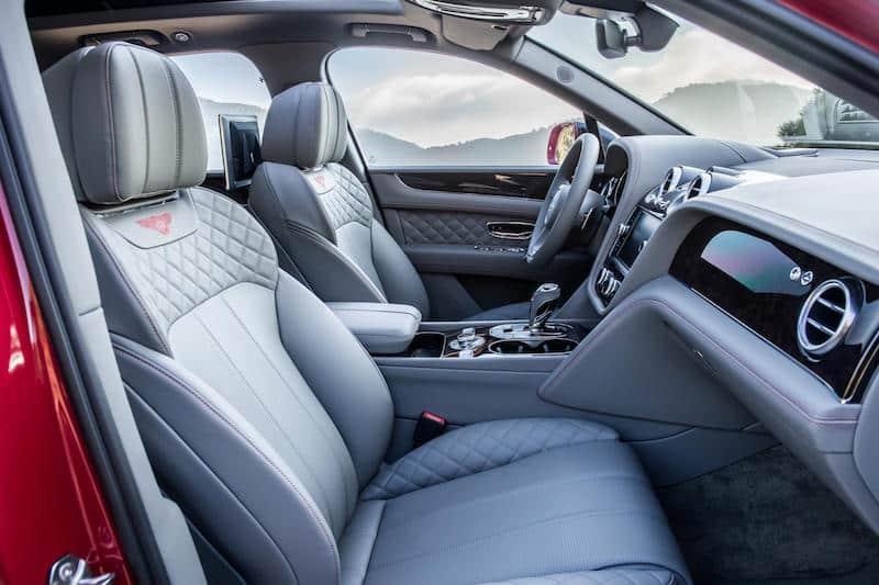 Bentley Bentayga front seats