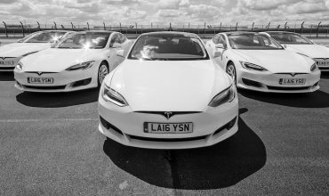 White Car Tesla Model S line up